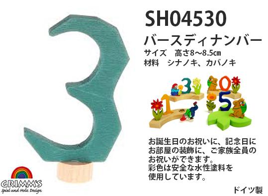 SH04530 バースディナンバー 3
