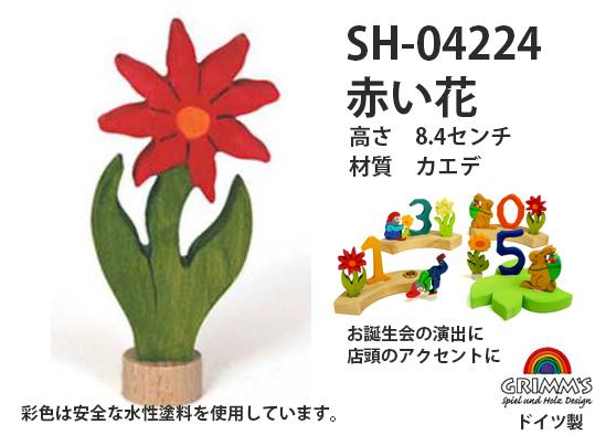 SH04224 バースディキャンドル 赤い花