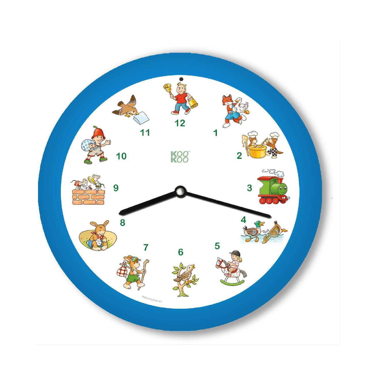 KO-5 メロディ時計 ドイツ子どもの歌 ブルー