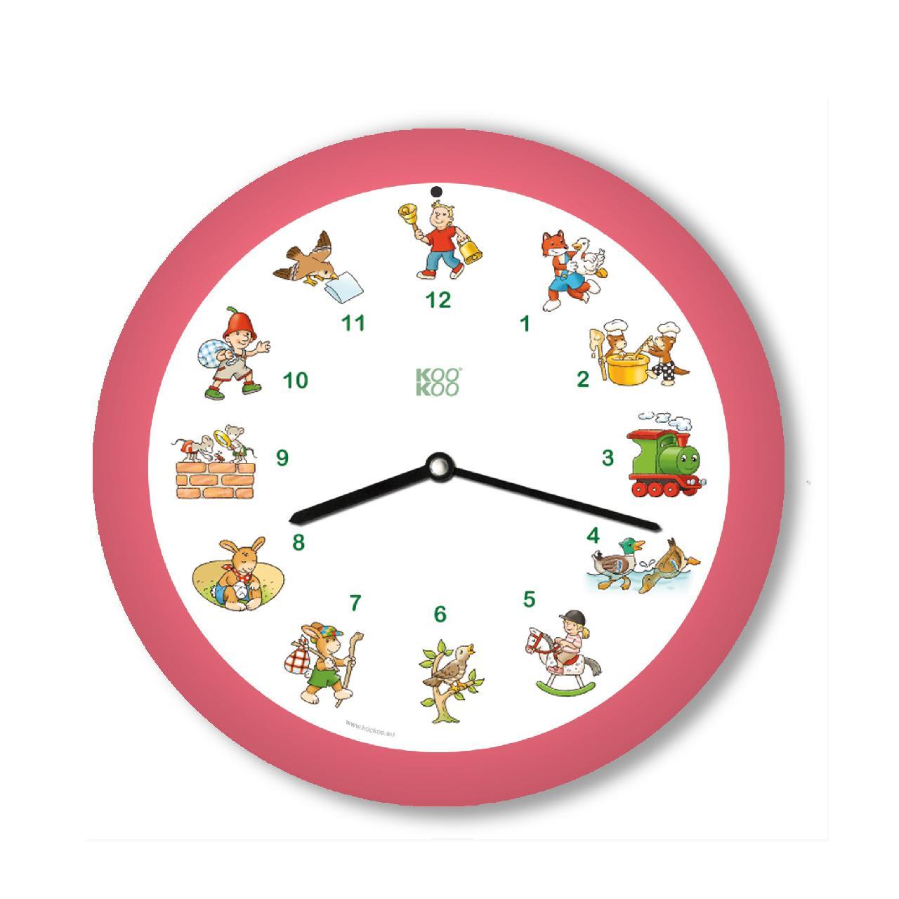 KO-4 メロディ時計 ドイツ子どもの歌 ピンク