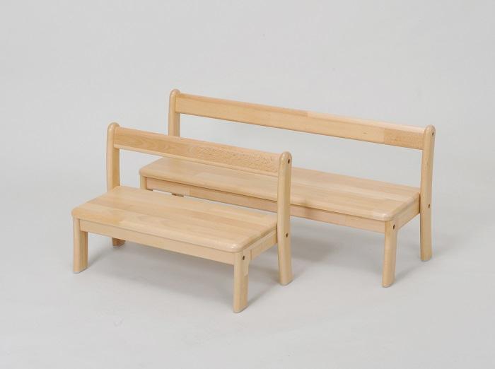 AE-75-b 乳児用2人掛けベンチ<座高18> 2才児用