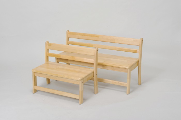 AE-77-b 乳児用2人掛けベンチ<座高26> 4才児用