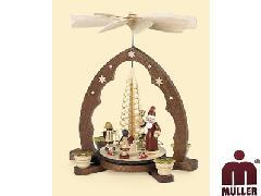 10340  サンタクロース もみの木 1層【ドイツ伝統工芸】