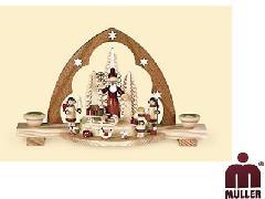 12310  サンタクロースと天使3体【ドイツ伝統工芸】