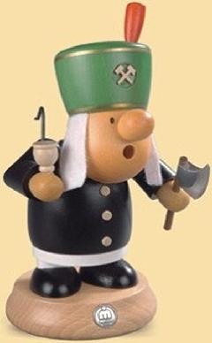 16416  小さな煙だし人形 抗夫 【ドイツの伝統工芸・お香】