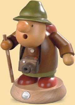 16442 小さな煙だし人形 旅人【ドイツの伝統工芸・お香】