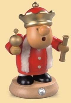 16496  小さな煙だし人形 王様 【ドイツの伝統工芸・お香】