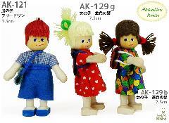 AK129b 女の子 茶色の髪(クレーブス人形)