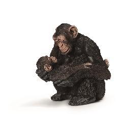 SC14679  チンパンジー(メスと仔)シュライヒ・ミニチュア動物シリーズ