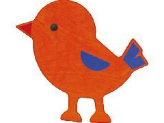 120185 小鳥(オレンジ)