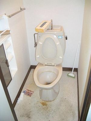 便器周りの床にも、汚れはつきやすいです。