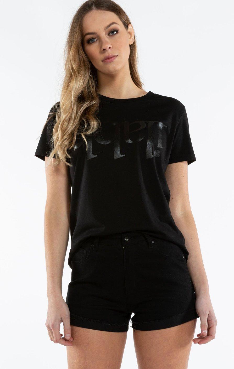 Capsize Tee Womens - Black/Black Tシャツ