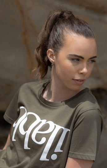 Capsize Tee Womens - Army Green Tシャツ