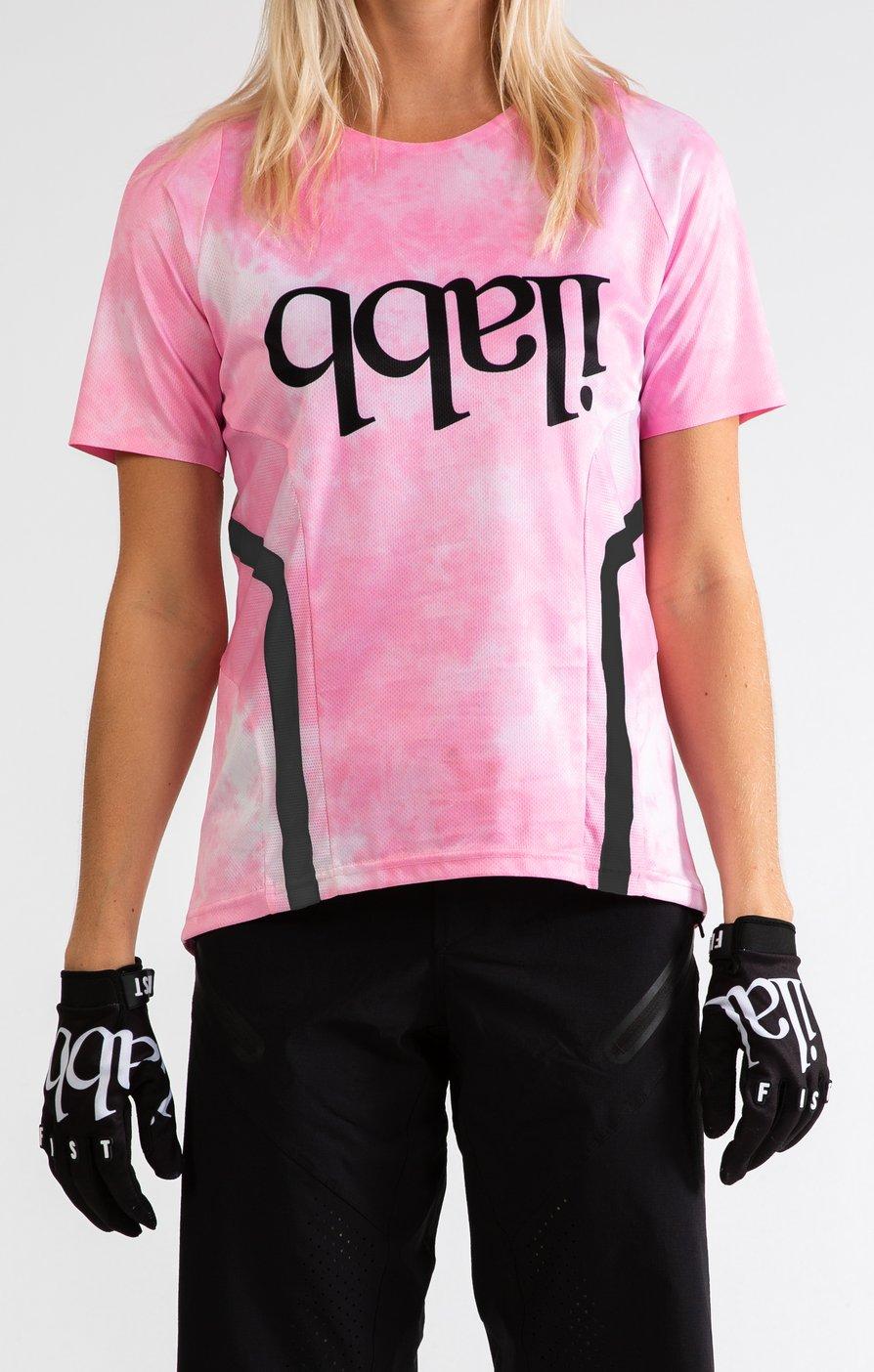 Don Race Tee Womens - Pink Tie Dye ライドシャツ