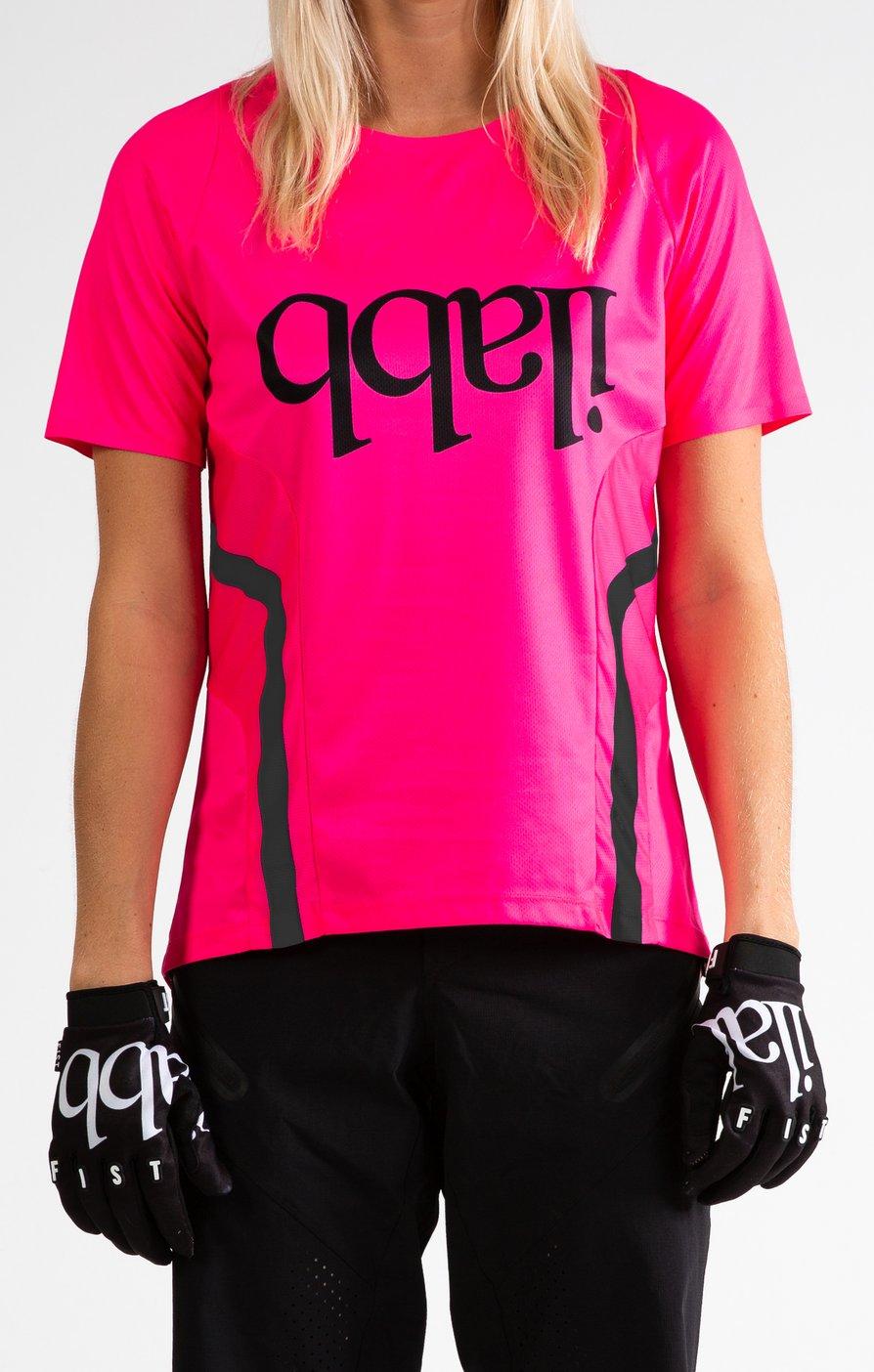 Don Race Tee Womens - Neon Pink ライドシャツ