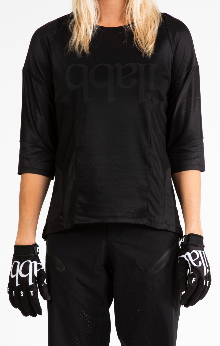 Don Race 3/4 Shirt Womens - Black/Black ライドシャツ