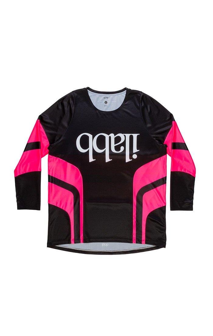 Don Race Ls Shirt - Black/Pink Mens ライドシャツ