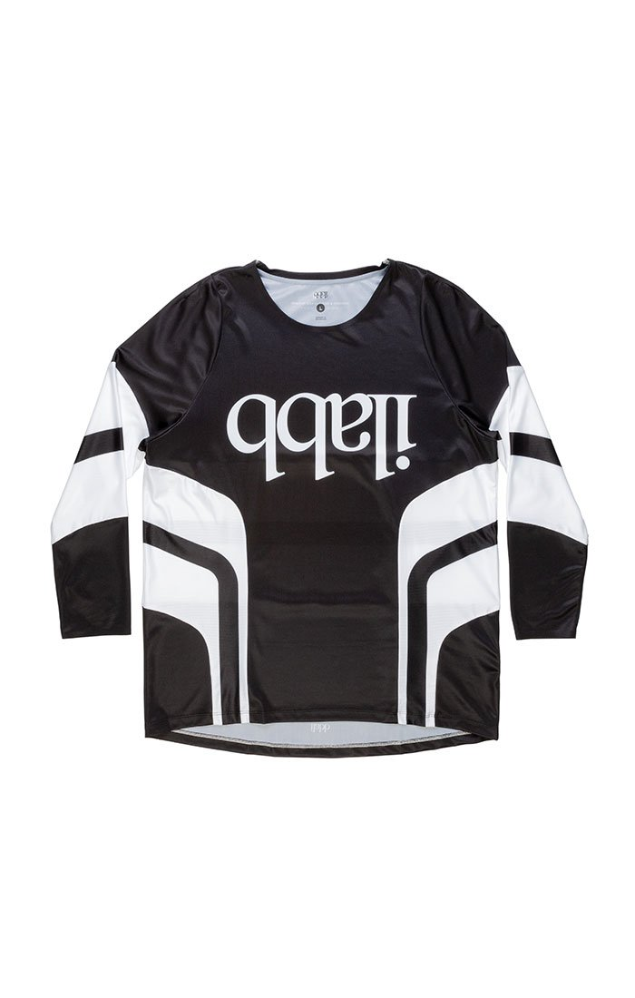 Don Race Ls Shirt - Black/White Mens ライドシャツ