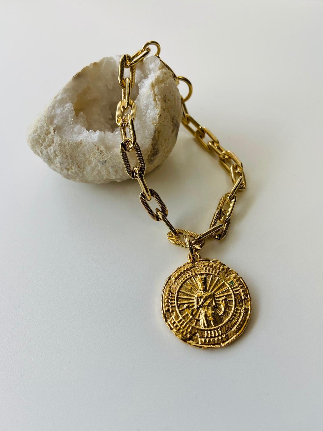 "Cleopatra Coin Bracelet - 7"""