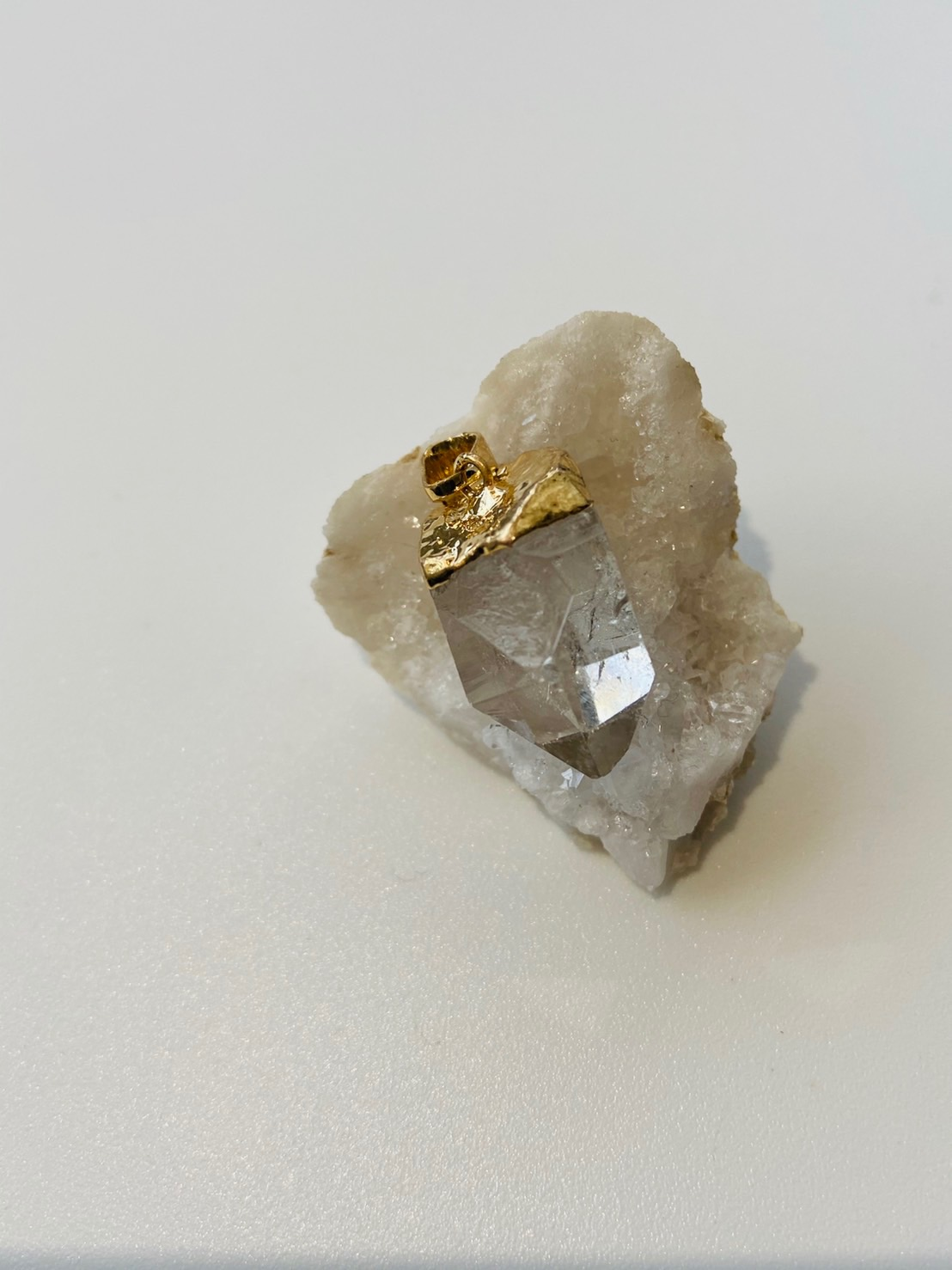 Crystal Charms (GOLD) - Crystal Quartz