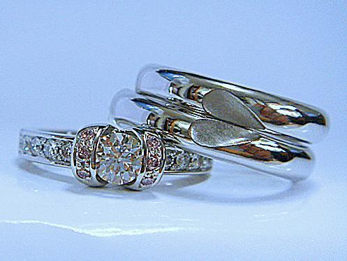 エンゲージダイヤモンドリング&マリッジリング