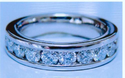 エタニティーダイヤモンドリング(1.20ct VS ハート&キューピット)チャネルセット