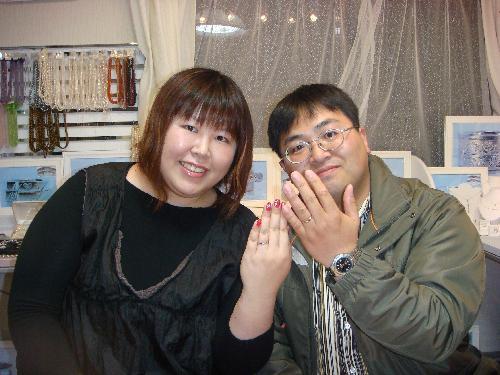S様 ご夫妻 周囲からの評判もとっても良く自慢の結婚指輪