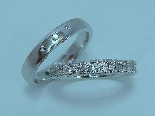 マリッジリング&エタニティーダイヤモンドリング全てVS クラス ハート&キューピット