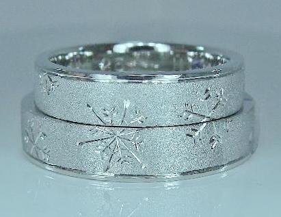マリッジリング 雪の結晶エタニティー天地ミラー