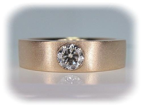 エンゲージリング ピンクゴールドダイヤモンド彫留セッティング(0.28ct)