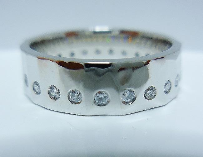 エタニティーリング、オリジナル、手作り鎚目diamond25pcセット