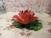 美しい蓮の香立て。日本製。作家作品。