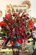 真っ赤なお花のデザインスタンド