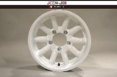 """""""JEEN"""" ホワイト 16インチ5.5J オフセット+22 ホイール4本セット"""