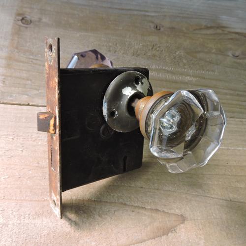 アンティークガラスドアノブ AGD-9