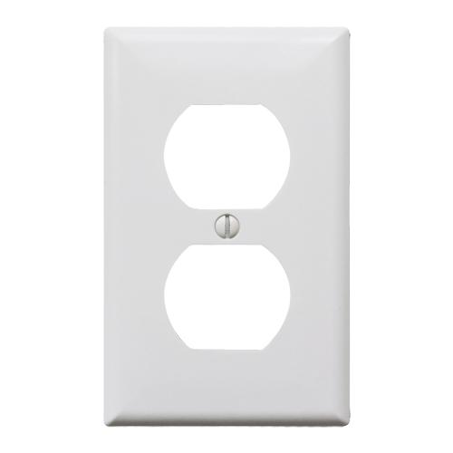 プラスチック2口コンセントプレート(ホワイト)