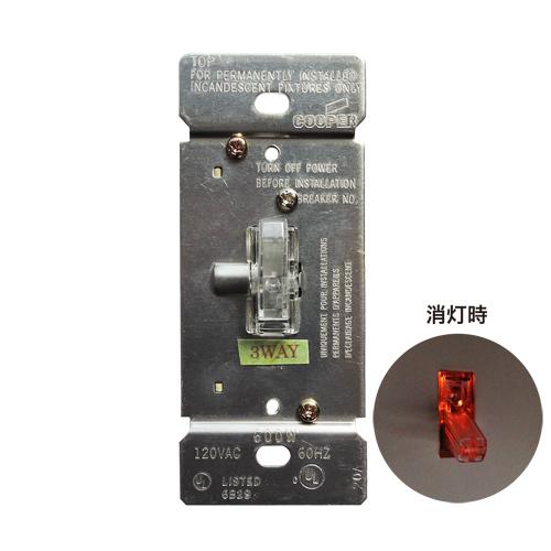 トグルホタル調光器 片切り/3路兼用(クリア) EATON