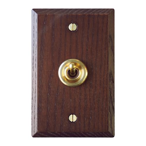 木製プレートスイッチ シングル(アッシュ)
