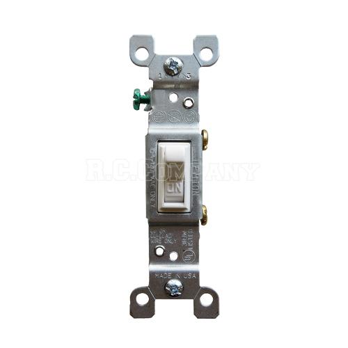 片切りスイッチ(ホワイト) LEVITON -限定品-