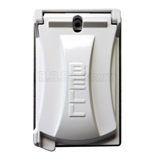 外部用スイッチ・コンセントカバー(ホワイト)シングル Hubbell