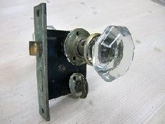 アンティークガラスドアノブ AGD-3