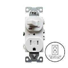片切りスイッチ/TRコンセント(ホワイト)アメリカ製 TR274W