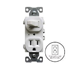 3路スイッチ/コンセント(ホワイト)アメリカ製 293W