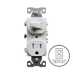 3路スイッチ/TRコンセント(ホワイト)アメリカ製 TR293W