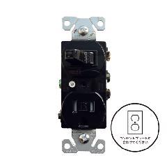 片切りスイッチ/TRコンセント(ブラック)アメリカ製 TR274BK