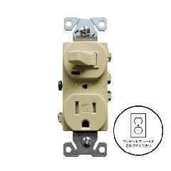 片切りスイッチ/TRコンセント (ベージュ)アメリカ製 TR274V