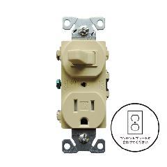 3路スイッチ/TRコンセント(ベージュ)アメリカ製 TR293V