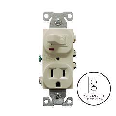 片切りスイッチ/コンセント(ライトアーモンド)アメリカ製 274LA