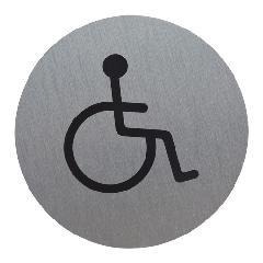 サインプレート 車椅子マーク (小)丸型