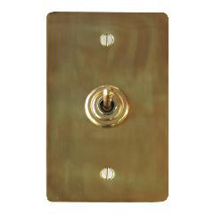 真鍮プレートスイッチ シングル